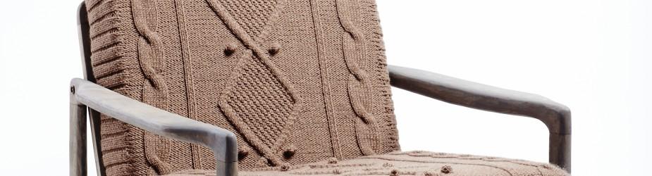fotel Na drutach